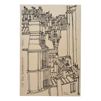 Impression Sur Bois Le style de Haussmann couvre | Paris, France