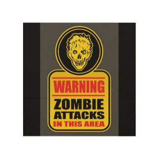 Impression Sur Bois Le zombi d'avertissement attaque le signe