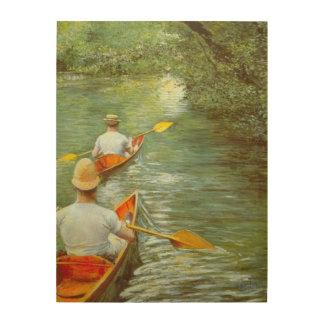 Impression Sur Bois Les canoës, Perissoires par Gustave Caillebotte