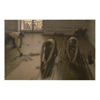Impression Sur Bois Les grattoirs de plancher par Gustave Caillebotte