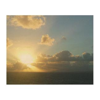 Impression Sur Bois Lever de soleil au-dessus de San Juan II Porto