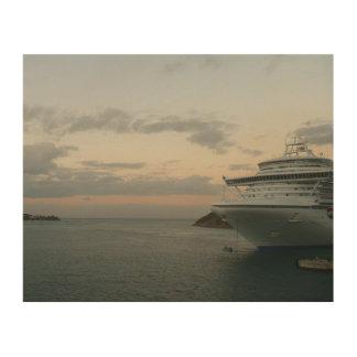 Impression Sur Bois Lever de soleil dans la photographie de bateau de