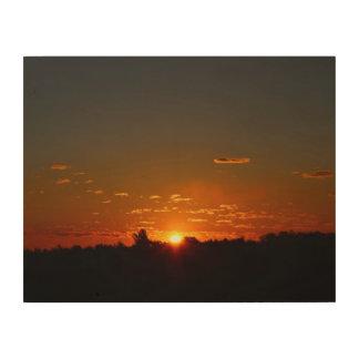 Impression Sur Bois Lever de soleil de début de la matinée de plan