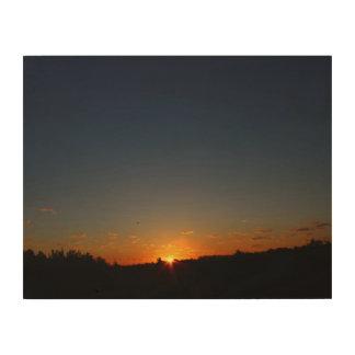 Impression Sur Bois Lever de soleil de début de la matinée et été 2016