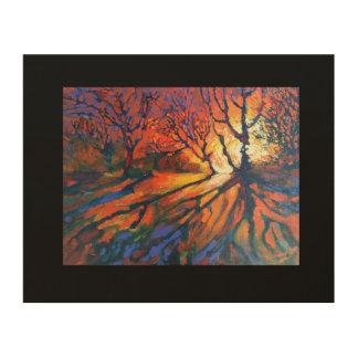 Impression Sur Bois Lever de soleil de forêt - décor de mur de nature