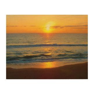 Impression Sur Bois Lever de soleil de plage