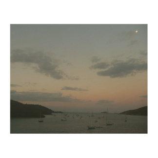 Impression Sur Bois Lever de soleil en Îles Vierges américaines de St