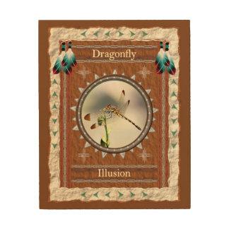 Impression Sur Bois Libellule - toile en bois d'illusion