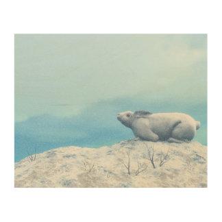 Impression Sur Bois Lièvres arctiques, lepus artique, ou lapin polaire