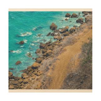 Impression Sur Bois Littoral Puerto Lopez de l'océan pacifique de vue