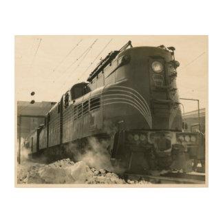 Impression Sur Bois Locomotive GG-1 #4800 de chemin de fer de la