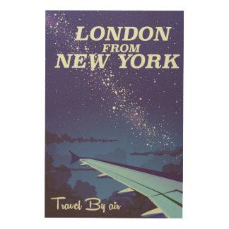 Impression Sur Bois Londres d'affiche vintage de vol de New York