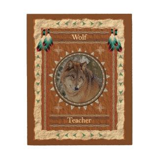 Impression Sur Bois Loup - toile en bois de professeur