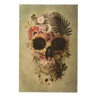 Impression Sur Bois Lumière de crâne de jardin