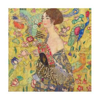 Impression Sur Bois Madame avec la fan par Gustav Klimt, Japonism