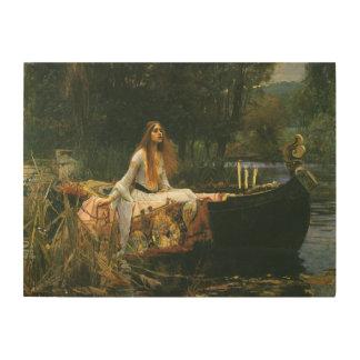 Impression Sur Bois Madame de Shalott sur le bateau par le château
