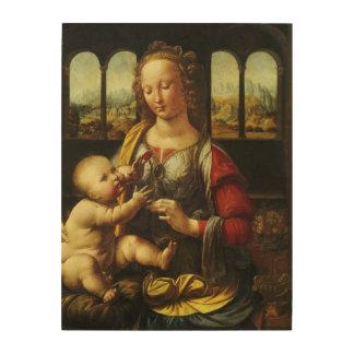 Impression Sur Bois Madonna de l'oeillet par Leonardo da Vinci