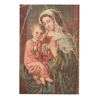 Impression Sur Bois Madonna et enfant
