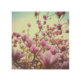 Impression Sur Bois Magnolia