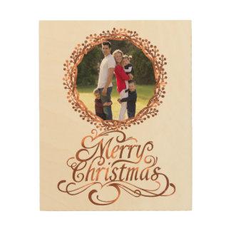 Impression Sur Bois manuscrit de Joyeux Noël de Cuivre-regard et