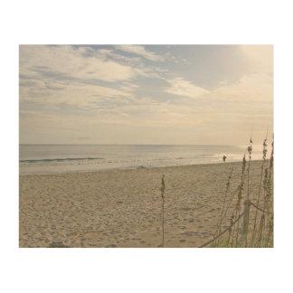 Impression Sur Bois Marche sur la plage
