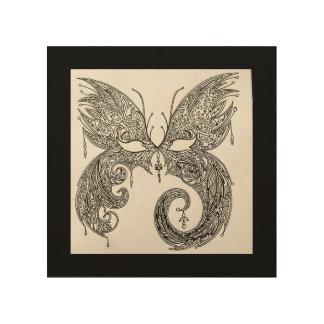 Impression Sur Bois Masque de mascarade de papillon