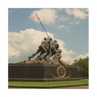 Impression Sur Bois Mémorial d'Iwo Jima dans le Washington DC