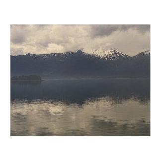 Impression Sur Bois Mer d'Alaska brumeuse à de belles nuances de bleu