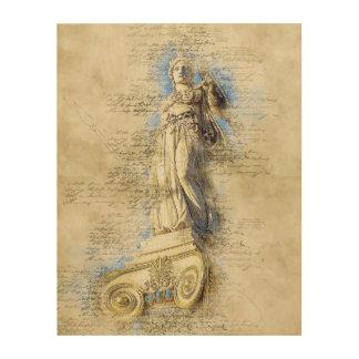 Impression Sur Bois Monument de marbre d'Acropole, Grèce