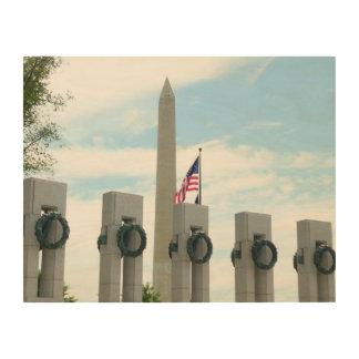 Impression Sur Bois Monument et 2ÈME GUERRE MONDIALE de Washington