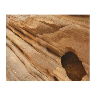 Impression Sur Bois Mur de canyon de Zion je soustrais la photographie