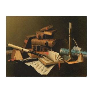 Impression Sur Bois Musique et littérature par William Harnett