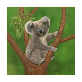 Impression Sur Bois Ours de koala aux yeux bleus de bébé