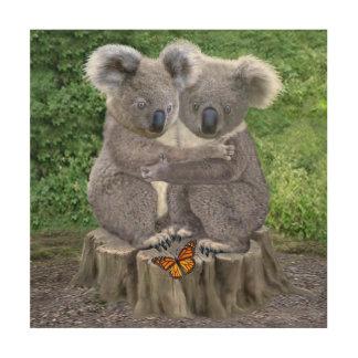 Impression Sur Bois Ours de koala de bébé Huggies