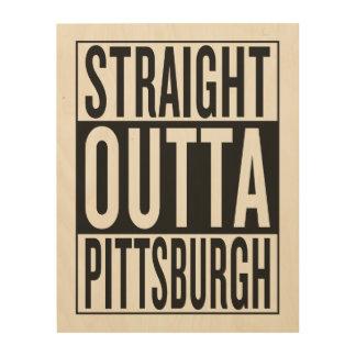 Impression Sur Bois outta droit Pittsburgh