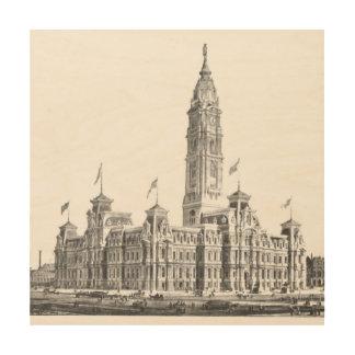 Impression Sur Bois PA 1891 d'hôtel de ville Philadelphie