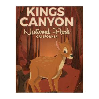Impression Sur Bois Parc national la Californie des Rois Canyon
