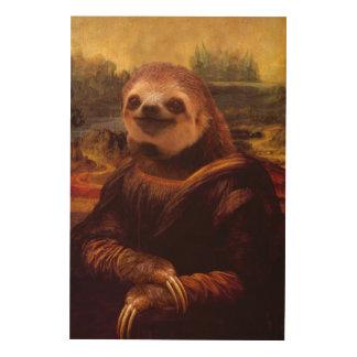 Impression Sur Bois Paresse de Mona Lisa