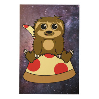 Impression Sur Bois Paresse de pizza