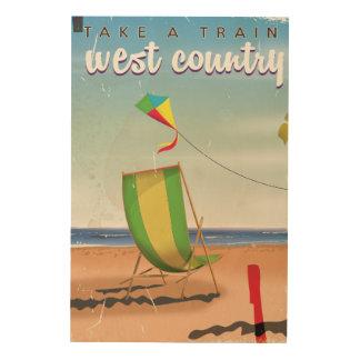 Impression Sur Bois Pays occidental, affiche de voyage de la