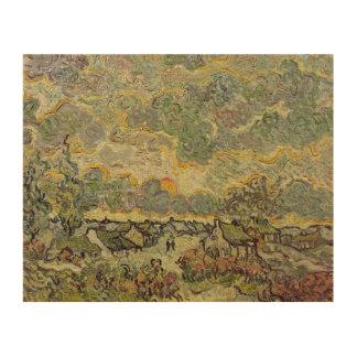 Impression Sur Bois Paysage d'automne de Vincent van Gogh  , 1890