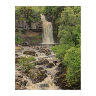 Impression Sur Bois paysage de cascade