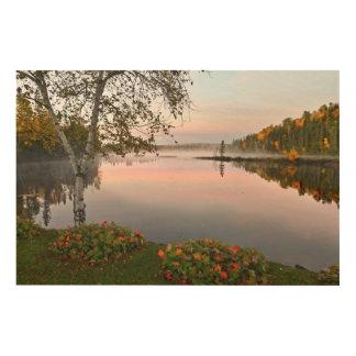 Impression Sur Bois Paysage de lac