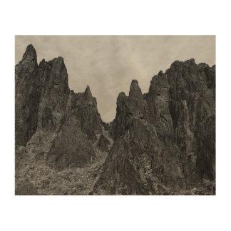 Impression Sur Bois Paysage de montagne