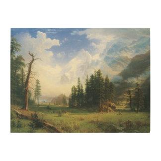 Impression Sur Bois Paysage de montagne par Albert Bierstadt