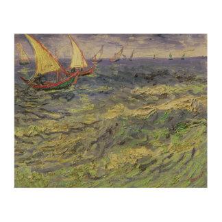 Impression Sur Bois Paysage marin de Vincent van Gogh   chez