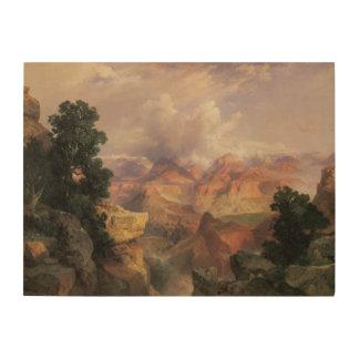 Impression Sur Bois Paysage vintage, canyon grand par Thomas Moran