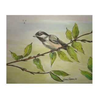 Impression Sur Bois Peinture de Chickadee