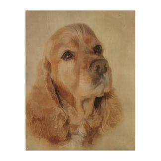Impression Sur Bois Peinture de Digitals d'un beau chien de cocker