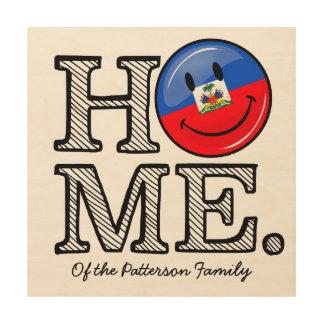 Impression Sur Bois Pendaison de crémaillère haïtienne de sourire de
